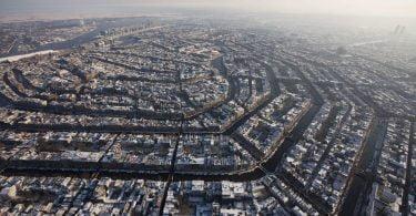 Amsterdam in plina iarna